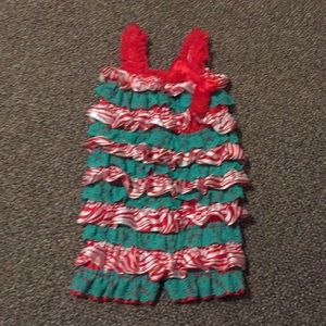 Other - Red and green lace romper